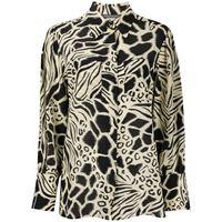 Alberta Ferretti camicia con stampa animalier - toni neutri