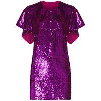 Ashish vestito corto con paillettes - rosa