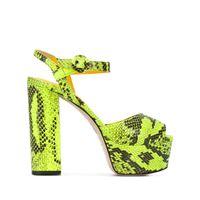 Le Silla sandali con plateau alyssa - verde