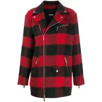 Dsquared2 cappotto a quadri - rosso
