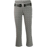 Philipp Plein pantaloni in pied-de-poule - nero
