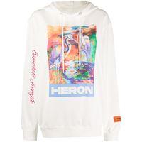 Heron Preston felpa con stampa - bianco