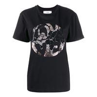 Alberta Ferretti t-shirt love me con decorazione - nero