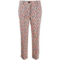 Prada pantaloni crop a fiori - nero