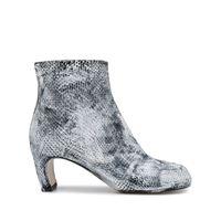 Maison Margiela stivali con effetto serpente tibi - bianco