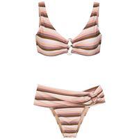 Amir Slama bikini a righe - toni neutri