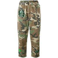 Marc Jacobs pantaloni con cintura stampata - verde
