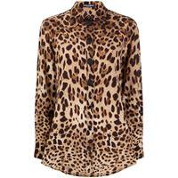 Dolce & Gabbana blusa con stampa - marrone