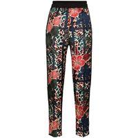 Moncler pantaloni crop a fiori - blu