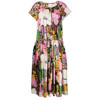 La Doublej vestito a fiori positano - rosa