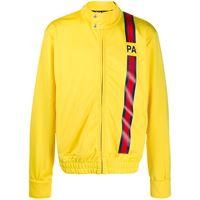 Palm Angels - giacca sportiva con logo - men - poliestere - s, l, m - di colore giallo