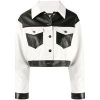 Giuseppe Zanotti giacca corta con design color-block - bianco