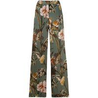 Off-White pantaloni svasati a fiori - verde