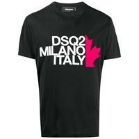 Dsquared2 t-shirt milano italy - nero