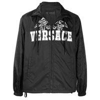 Versace - giacca con stampa - men - cotone/poliammide/poliestere - 46, 50, 48, 52 - di colore nero
