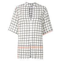 Osklen camicia a quadri - bianco