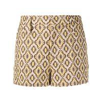 Prada shorts con stampa - toni neutri