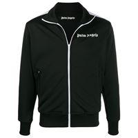 Palm Angels - giacca sportiva con stampa - men - poliestere - xs, xxs, s, m, l, xl, xxl - di colore nero