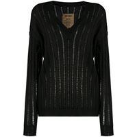 Uma Wang maglione a coste - nero