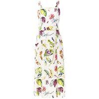 Adam Lippes botanical print dress - bianco