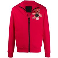 Philipp Plein giacca sportiva con stampa - rosso