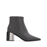 Casadei stivali con borchie - nero