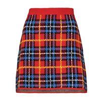 Miu Miu minigonna con motivo tartan - rosso