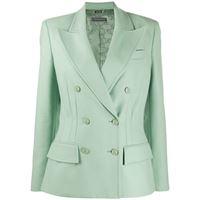 Alberta Ferretti blazer con risvolti a punta - verde