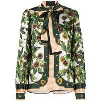Dolce & Gabbana blusa a fiori - verde