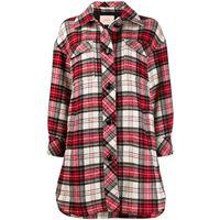 TWINSET cappotto tartan - rosso