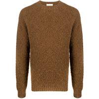 Mackintosh maglione a girocollo hutchins - marrone
