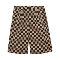 Burberry shorts sartoriali jacquard - marrone