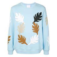 Ports V maglione con stampa - blu