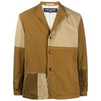 Comme Des Garçons Homme - giacca con design patchwork - men - cotone/nylon - s, l, m - color marrone