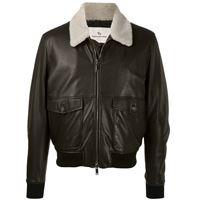 Tagliatore giacca con colletto a contrasto - nero