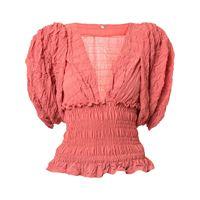 Johanna Ortiz blusa con vita elasticizzata - rosa