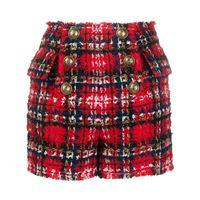 Balmain shorts a quadri - rosso