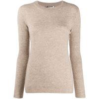 Agnona maglione con girocollo - toni neutri