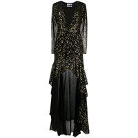 The Attico - vestito con stampa - women - poliestere - 38, 40, 42, 44 - di colore nero