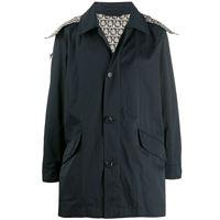 Salvatore Ferragamo - giacca con bottoni - men - cotone/poliestere/viscosa - 48, 50, 52, 54, 56 - di colore nero