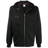 Paul Smith - giacca sportiva con zip - men - cotone/nylon - m, l, xl, s - di colore nero