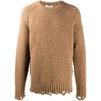 Maison Flaneur maglione con effetto vissuto - toni neutri