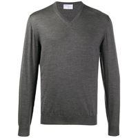 Fedeli maglione con scollo a v - grigio