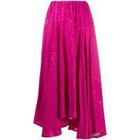 Balenciaga gonna a pois - di colore rosa