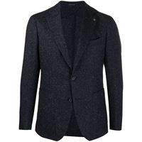 Tagliatore blazer avvitato monopetto - di colore blu