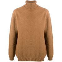 Eleventy roll neck jumper - marrone