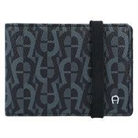 AIGNER icon cover portafoglio 10 cm nero
