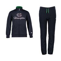 CHAMPION tuta full zip in cotone felpato bambina