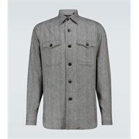 Lardini camicia in misto lana