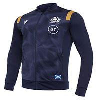 Macron sru m20 navy/gold sr, anthem jacket senior scotland rugby 2020/21 uomo, blu, l
